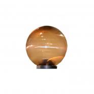 Светильник шар дымчатый ребристый Е-27,25W 200*200mm 820 АСКО