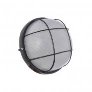 Светильник влагостойкий MIF 012 100W круг черный с решеткой