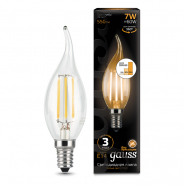 Лампа Gauss LED Filament Свеча на ветру E14 7W 550lm 2700K step dimmable