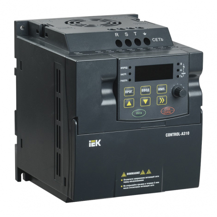Преобразователь частоты CONTROL-A310 380В, 3Ф 1,5 kW 3,7А IEK - 1