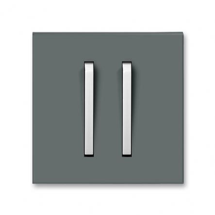 Клавиша 2-я Neo графит/бел.лед - 1