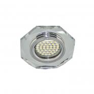 Светильник точечный SMD3014 12 LEDS (6500K) серебро-серебро