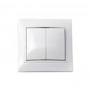 Выключатель двухклавишный ВВсб10-2-0-FL-W белый