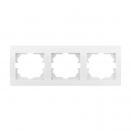 Рамка тройная горизонтальная белый DERIY LEZARD