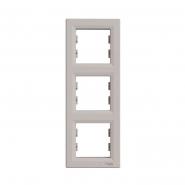 Рамка 3-я вертикальная ASFORA бронза