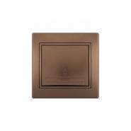 Выключатель проходной светло-коричневый перламутровый Lezard серия MIRA
