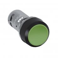 Кнопка со встроенными контактами с возвратом CP1-10G-10 зеленая ABB