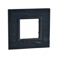 Рамка  Unica Class 1-я чорний камінь