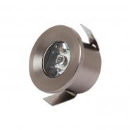 Светильник встраеваемый HOROZ 1W IP20 4200К 80Lm d-33mm хром