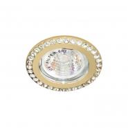 Светильник точечный Feron DL100-C  прозрачный/золото
