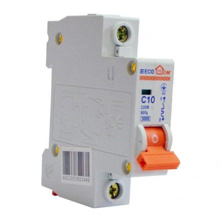 Автоматический выключатель ECOHOME АСКО ECO 1p 10A - 1