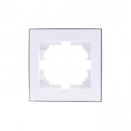 Рамка  1-я с боковой вставкой хром Lezard серия RAIN