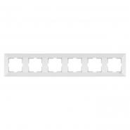 Рамка 6-я горизонтальная белая MERIDIAN