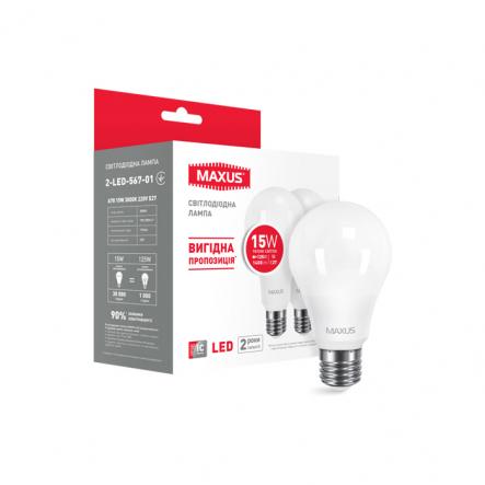 Лампа LED A70 15W 3000K 220V E27 Maxus - 1
