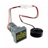 Амперметр цифровой ED16-22FAD 0-100A (жёлтий) врезной монтаж