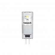 Лампа LED G4 1W 3000K 12VAC/DC CR Maxus