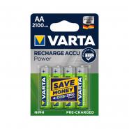 Аккумуляторная батарейка  VARTA RECHARGEABLE ACCU AA 2100 mAh BLI 4 NI-MH