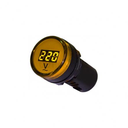 Вольтметр цифровой AD22-22DVM желтый д.22мм АСКО-УКРЕМ - 1