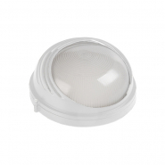 Светильник НПП 1307 белый-круг ресничка  60Вт IP54 ИЕК