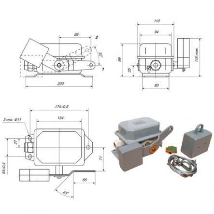 Выключатель концевой Промфактор ПП 743 штамповка - 1