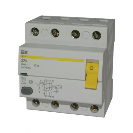 Устройство защитного отключения УЗО IEK ВД1-63 4p 32A/30мА - 1