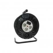 Катушка до 50м кабеля 4 гнезда 16A с/з Lemanso / LMK72009 защита от перегрузки, с цифр. вол