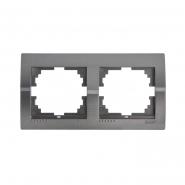 Рамка 2-я темно серый металлик DERIY