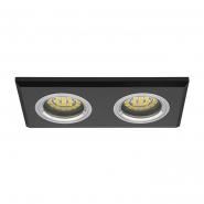 Светильник точечный Morta CT-DSL250-B 2xGU10 черное стекло
