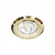 Светильник точечный Feron DL103-C  прозрачный/золото