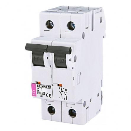 Автоматический выключатель ETIMAT 10 2p C 1А (10 kA) - 1