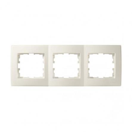 Рамка трехместная Lezard Lesya горизонтальная кремовый 705-0300-148 - 1