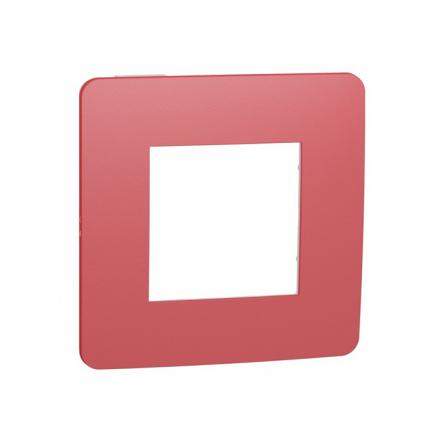 Рамка однопостовая Schneider Electric NU280213 (красный/белый) - 1