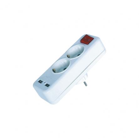 Двойник + 2 USB c выключателем FAR (F08) - 1