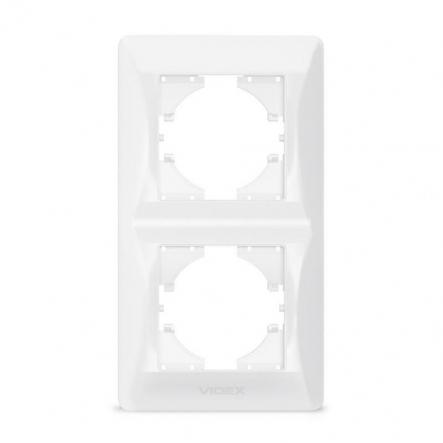 Рамка на 2 места вертикальная VIDEX Binera Белый (VF-BNFR2V-W) - 1