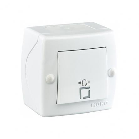 Кнопка звонка Mono Electric, OCTANS IP 20 белая - 1
