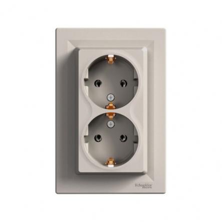 Розетка двойная Schneider Electric Asfora EPH9900169 с заземлением (бронза) - 1