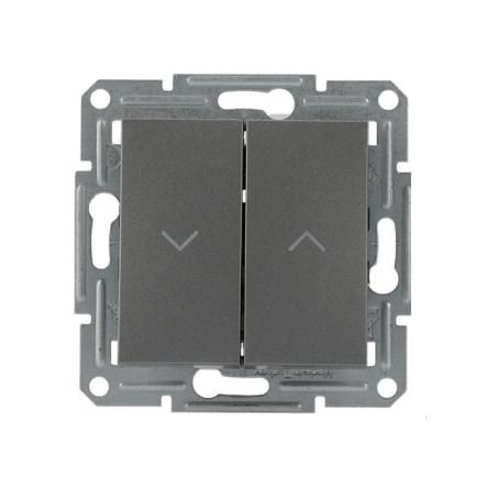 Выключатель для жалюзи сталь Schneider Electric Asfora - 1