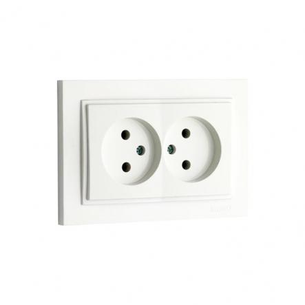 Розетка 2-я без заземления, Mono Electric, DESPINA (белый) - 1