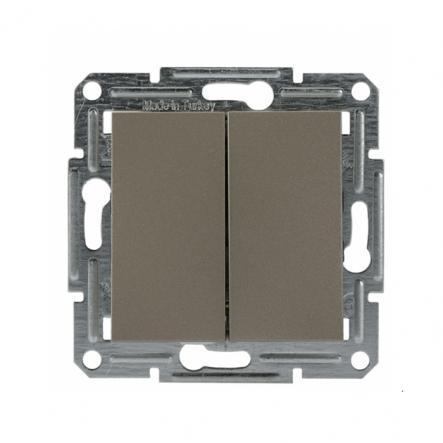 Переключатель 2-кл. самозаж. бронза Schneider Electric ASFORA - 1