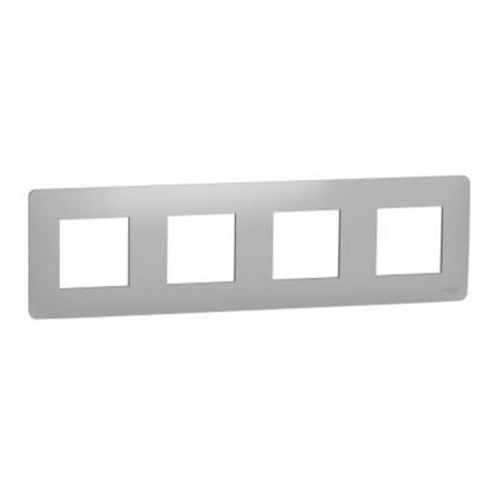 Рамка четырехпостовая Schneider Electric NU200830 (алюминий) - 1