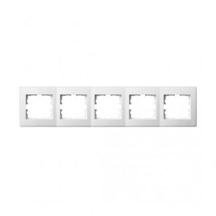 Рамка пятиместная Lezard Lesya горизонтальная белый 705-0200-150 - 1