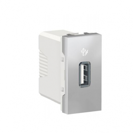 USB розетка Schneider Electric NU342830 1М (алюминий) - 1