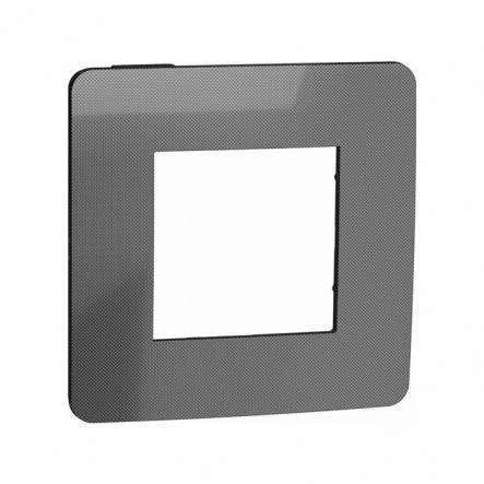 Рамка однопостовая Schneider Electric NU280253 (никель/антрацит) - 1