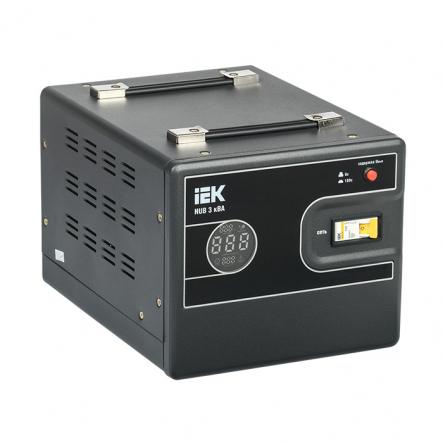 Стабилизатор напряжения переносной HUB 3кВА IEK - 1