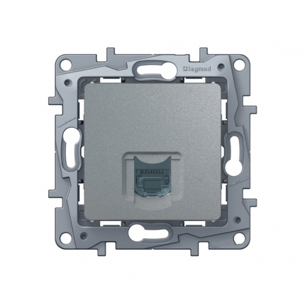 Розетка компьютерная алюминий - 1