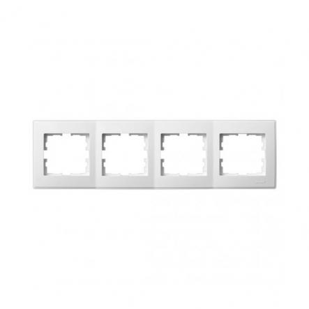 Рамка четырехместная Lezard Lesya горизонтальная белый 705-0200-149 - 1