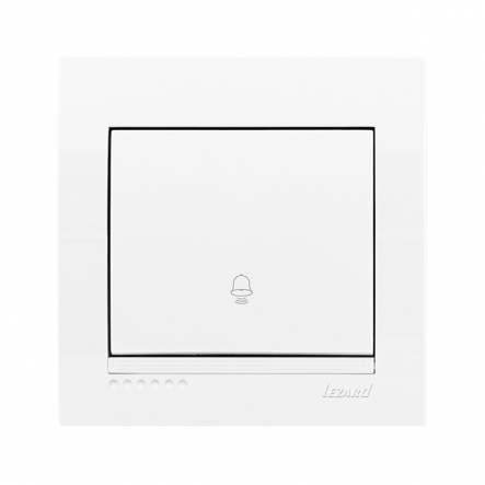 Кнопка звонка белая, Deriy, Lezard - 1