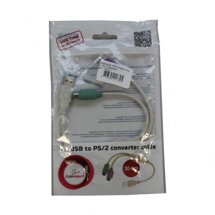 Переходник USB А-папа/2х PS/ 2. 30см Cablexpert - 1