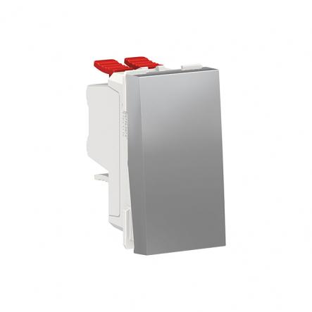 Выключатель одноклавишный перекрестный 1 модуль Schneider Electric NU310530, 0А 1М (алюминий) - 1