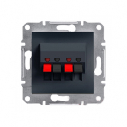 Аудиорозетка без рамки антрацит Asfora, Schneider Electric EPH5700171 - 1